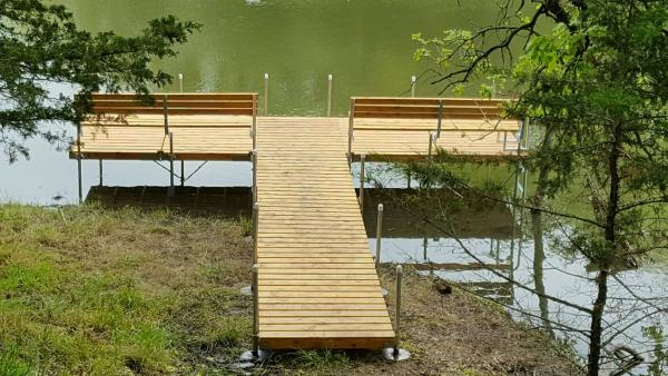 how to build wood dock sections